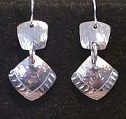 Stamped Jewelry - Silver Earrings by Dyan  Johnson