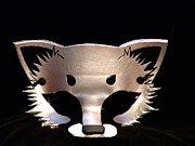 Mask Jewelry - Silver Fox Mask by Fibi Bell