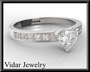 Custom Ring Jewelry - Silver Heart Engagement Ring by Roi Avidar