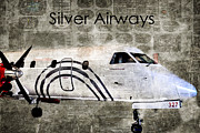 Airways Posters - Silver Instrument Panel Poster by Diane E Berry