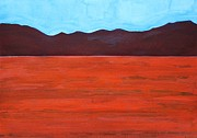 Dry Lake Paintings - Silver Lake Evening original painting by Sol Luckman