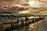 North Carolina Wall Art Prints - Silver Lake Harbor Print by Dan Carmichael