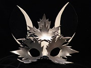 Mask Jewelry - Silver Maple Sprite Mask by Fibi Bell