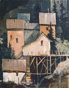 Barns Paintings - Silver Mines by Micheal Jones