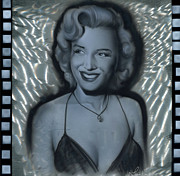 Marylin Framed Prints - Silver Monroe 1 Framed Print by Luis  Navarro