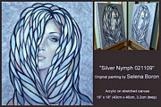 Abstract Composition Paintings - Silver Nymph 021109 Comp by Selena Boron