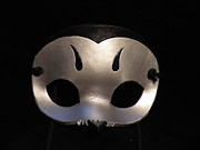 Mask Jewelry - Silver Owl Mask by Fibi Bell