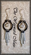 Gold Earrings Originals - Silver Paddles by Jan  Brieger-Scranton