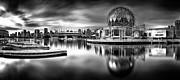 World Cities Photo Posters - Silver-plated Vancouver Poster by Alexis Birkill