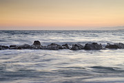 Pink Sunset Acrylic Prints - Silver sea at sunset Acrylic Print by Guido Montanes Castillo