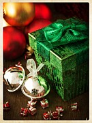 Greeting Card Photo Metal Prints - Silver Sleigh Bells Metal Print by Edward Fielding