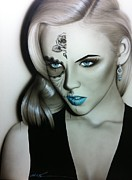 Blonde Hair Prints - Silver Soul Print by Christian Chapman Art