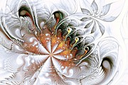 Petals Art Mixed Media - Silver Waves by Anastasiya Malakhova