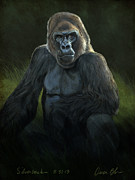 Photoshop Digital Art Posters - Silverback Poster by Aaron Blaise
