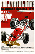 Motor Racing Prints - Silverstone Grand Prix 1969 Print by Nomad Art And  Design