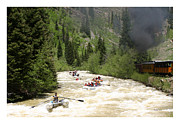 River Framed Prints Prints - Silverton Durango Steam Train Print by Jack Pumphrey