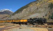 Snow Cap Photos - Silverton Train by Jerry McElroy