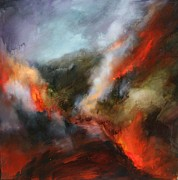 Wildfire Paintings - Simmering Vistas by Lissa Bockrath