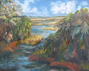 Florida Panhandle Painting Posters - Simmons Bayou Poster by Susan Richardson