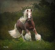 Horse Artwork Prints - Simon and the storm Print by Fran J Scott