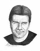Celebrity Drawing Drawings Prints - Simon Cowell Print by Murphy Elliott