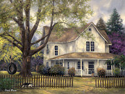 Old House Posters - Simple Country Poster by Chuck Pinson