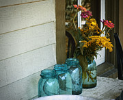 Ball Jars Prints - Simple Life 1 Print by Julie Palencia