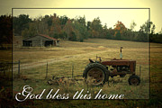 Antique Tractor Posters - Simple Life Poster by Linda Fowler
