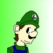 Luigi Digital Art - Simple luigi by Preston Vinson