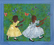 African American Art Tapestries - Textiles Framed Prints - Simple Play Framed Print by Aisha Lumumba