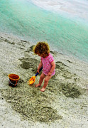 Little Girl Photos - Simple Pleasures - Beach Art By Sharon Cummings by Sharon Cummings