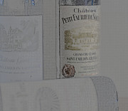 Red Wine Bottle Prints - Simple Saint Emilion Print by Georgia Fowler