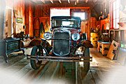 Ford Model T Car Digital Art Framed Prints - Simpler Times oil Framed Print by Steve Harrington