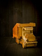 Toy Photos - Simpler Times - Old Wooden Toy Truck by Edward Fielding