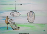 Stillettos Paintings - Simplicity by PainterArtist FIN