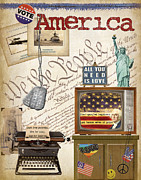 Airforce Framed Prints - Simplified Americana Framed Print by Grace Pullen