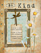 Faith Paintings - Simplified Be Kind by Grace Pullen