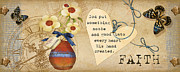 Floral Prints Painting Prints - Simplified Faith Print by Grace Pullen