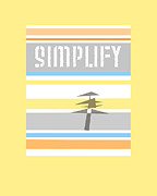 Word Art Digital Art Prints - Simplify text art Print by Ann Powell