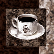 Coffee Mug Digital Art Prints - Simply Aromatic Print by Lourry Legarde