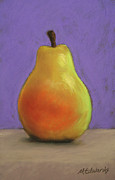Pear Pastels Prints - Simply Pear Print by Marna Edwards Flavell