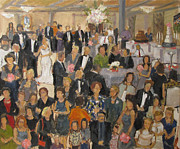 Wedding Reception Paintings - Simpson-Blackmon Wedding Reception by Barbara Davis