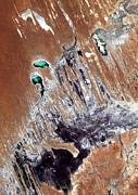 Satellite Image Posters - Simpson Desert  Australia  Poster by Anonymous