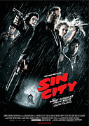 City Posters Posters - Sin City Poster Poster by Sanely Great