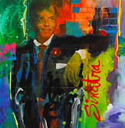 Icons Prints Painting Prints - Sinatra Print by Gino Savarino