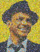 Chip Mixed Media Prints - Sinatra Poker Chip Mosaic Print by Paul Van Scott