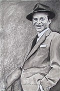 Albert Pastels Framed Prints - Sinatra - The Voice Framed Print by Eric Dee