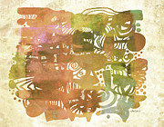 Muted Prints - Sincerely Yours abstract art  Print by Ann Powell