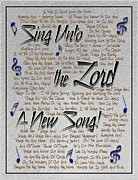 Sonnet Framed Prints - Sing Unto The Lord A New Song Framed Print by Carolyn Marshall