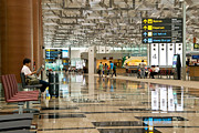 Airport Concourse Prints - Singapore Changi Airport 01 Print by Rick Piper Photography